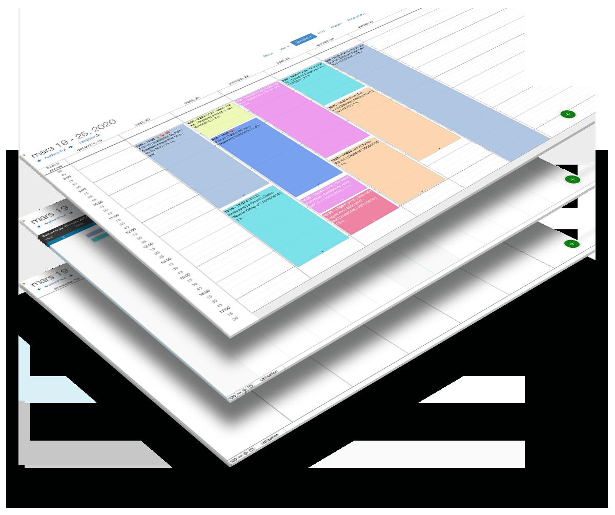 Calendrier DayBack,<br>notre calendrier de production